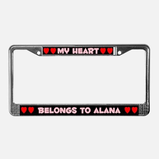 My Heart: Alana (#002) License Plate Frame