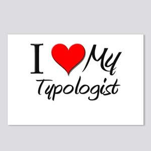 I Heart My Typologist Postcards (Package of 8)