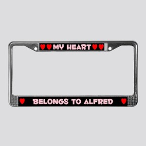 My Heart: Alfred (#002) License Plate Frame