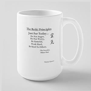 """""""Reiki Principles"""" Large Mug"""