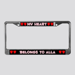 My Heart: Alla (#002) License Plate Frame