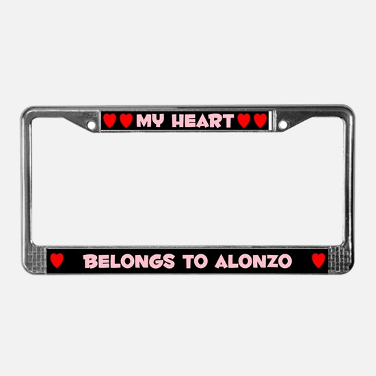 My Heart: Alonzo (#002) License Plate Frame