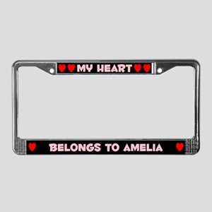 My Heart: Amelia (#002) License Plate Frame