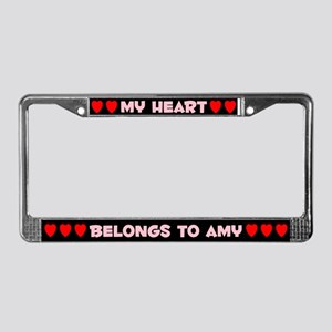 My Heart: Amy (#002) License Plate Frame
