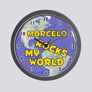 Marcelo Rocks My World (Gold) Wall Clock