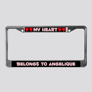My Heart: Angelique (#002) License Plate Frame