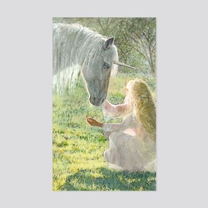Unicorn and Diana Sticker (Rectangle)