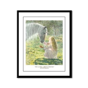 Unicorn and Diana Framed Panel Print
