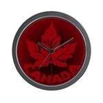 Cool Canada Souvenir Wall Clock Maple Leaf Art