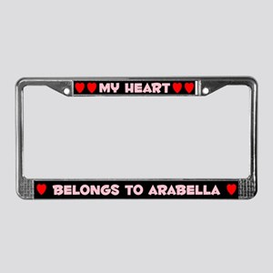 My Heart: Arabella (#002) License Plate Frame