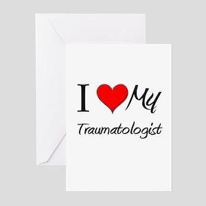 I Heart My Traumatologist Greeting Cards (Pk of 10