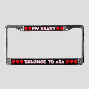 My Heart: Asa (#002) License Plate Frame