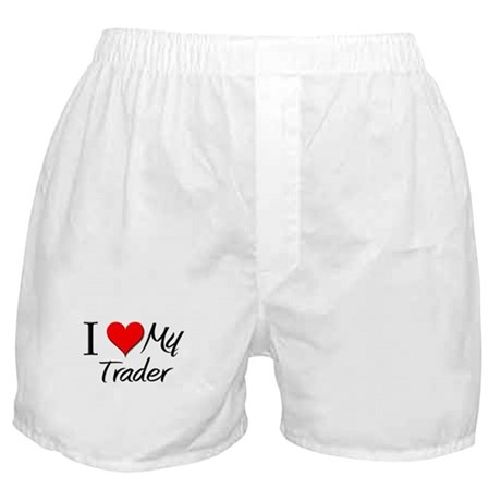 I Heart My Trader Boxer Shorts