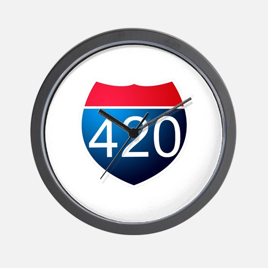 Cute 420 Wall Clock