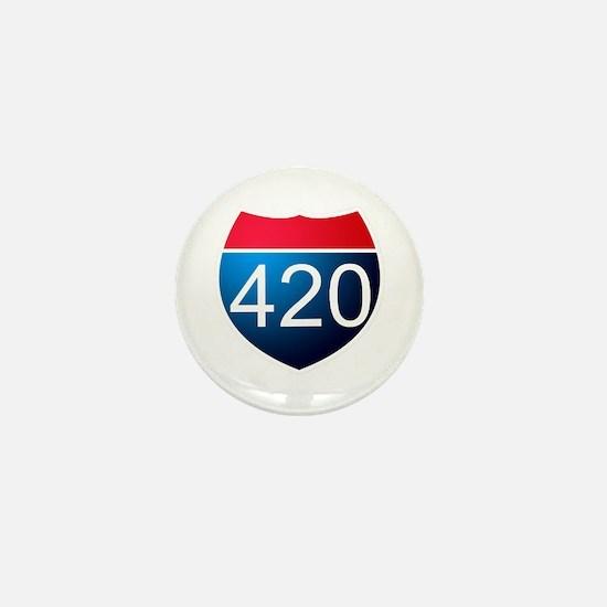 Unique 420 Mini Button