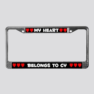 My Heart: Cy (#001) License Plate Frame
