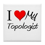 I Heart My Topologist Tile Coaster