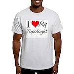 I Heart My Topologist Light T-Shirt