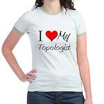 I Heart My Topologist Jr. Ringer T-Shirt