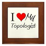 I Heart My Topologist Framed Tile