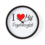 I Heart My Topologist Wall Clock