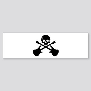 Rockin skull guitars Bumper Sticker