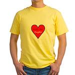 World's Best Daughter Yellow T-Shirt