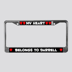 My Heart: Darrell (#001) License Plate Frame