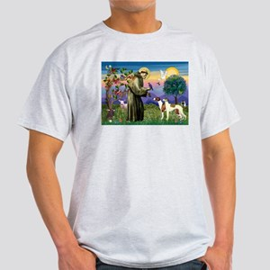 St Francis & Whippets Ash Grey T-Shirt