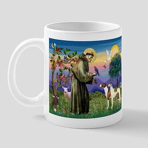 St Francis & Whippets Mug