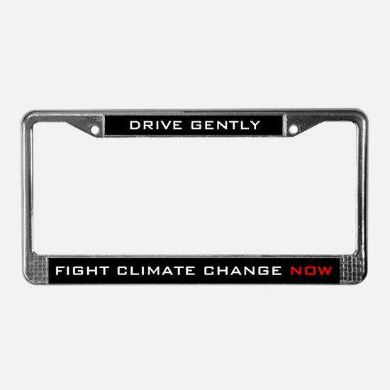 Fight Climate Change Now License Plate Frame