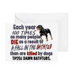 Killer Bathtubs Greeting Cards (Pk of 20)