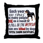 Killer Bathtubs Throw Pillow