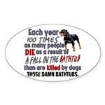 Killer Bathtubs Sticker (Oval)