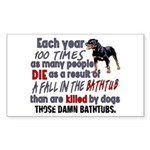 Killer Bathtubs Sticker (Rectangle)