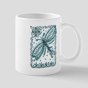 Dragonfly in Frame Mugs