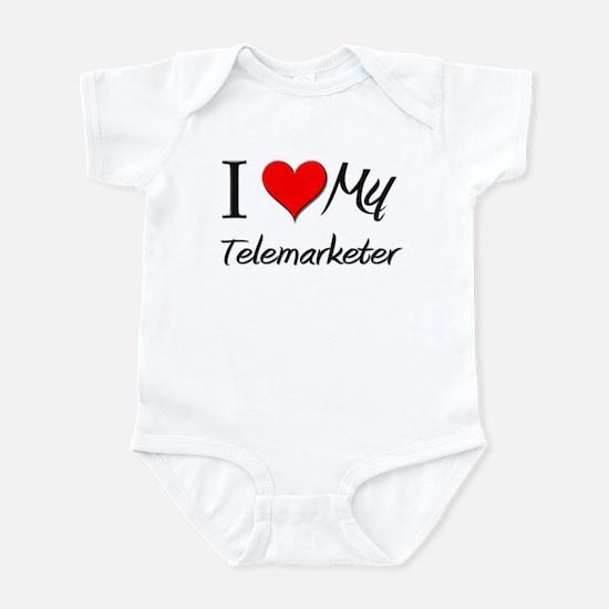 I Heart My Telemarketer Infant Bodysuit