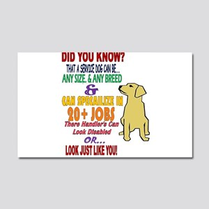 did you know service dog education Car Magnet 20 x