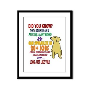 did you know service dog education Framed Panel Pr