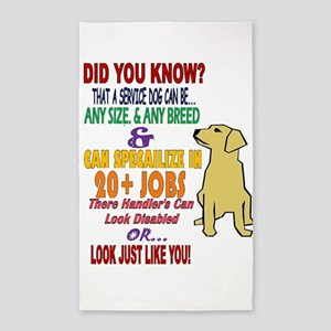 did you know service dog education Area Rug