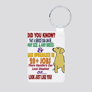 did you know service dog education Keychains