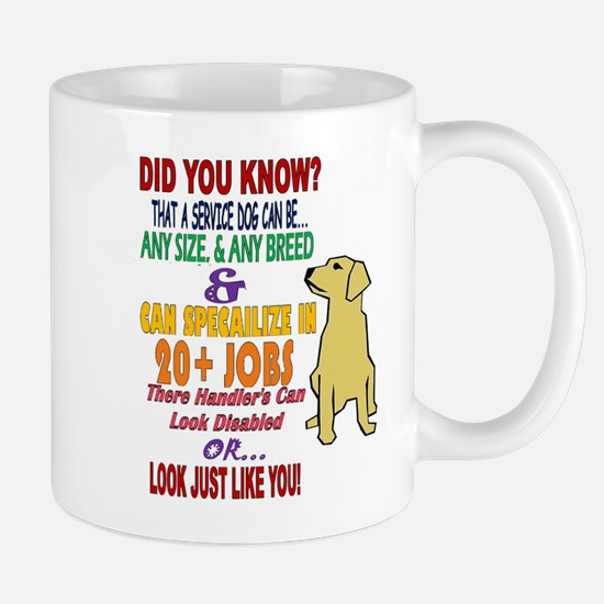 did you know service dog education Mugs