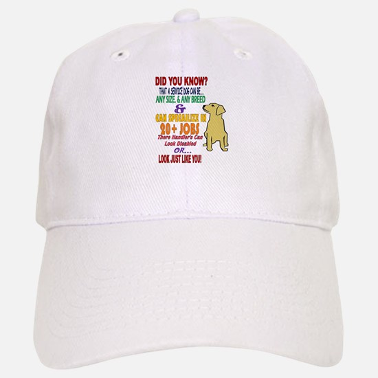 did you know service dog education Baseball Cap