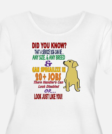 did you know service dog education Plus Size T-Shi