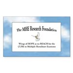 The MHE Research Foundation Rectangle Sticker