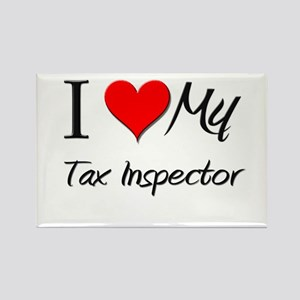 I Heart My Tax Inspector Rectangle Magnet