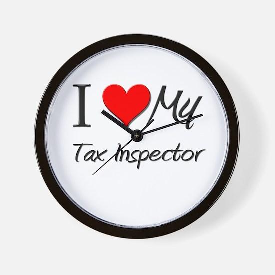 I Heart My Tax Inspector Wall Clock