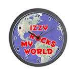 Izzy Rocks My World (Red) Wall Clock