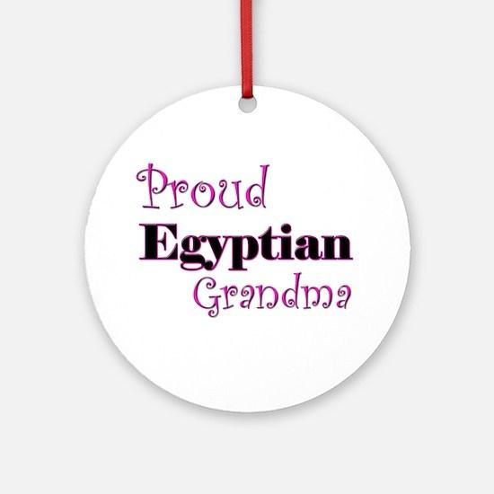 Proud Egyptian Grandma Ornament (Round)