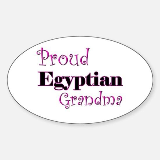 Proud Egyptian Grandma Oval Decal